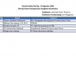 Daftar Peserta Pelatihan - 19 Agustus 2021